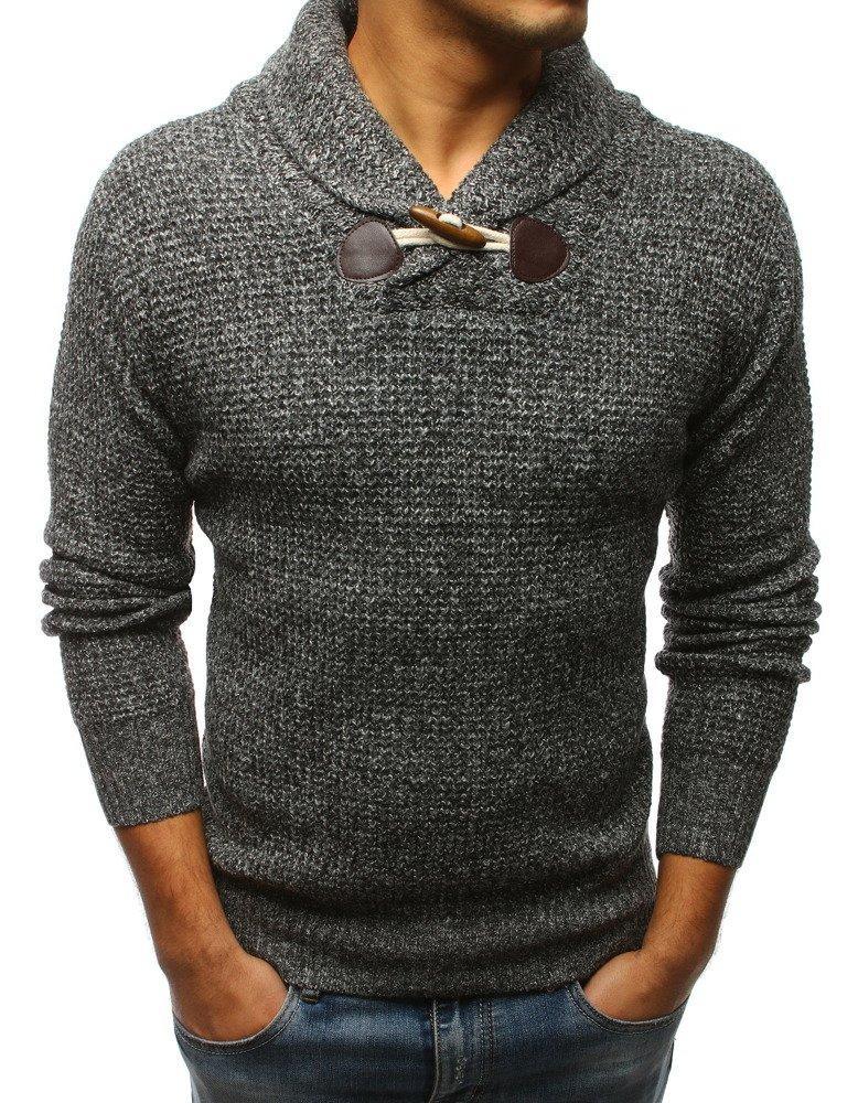 Pánsky sveter antracit