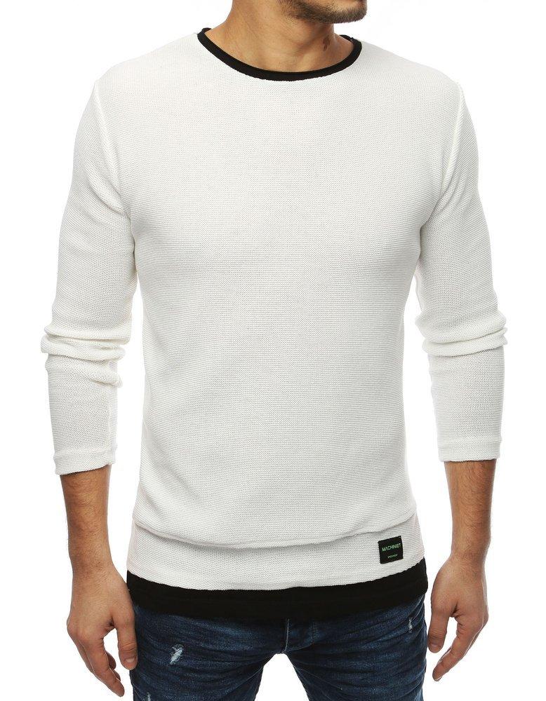 Béžový pánsky sveter v trendy prevedení (wx1455)