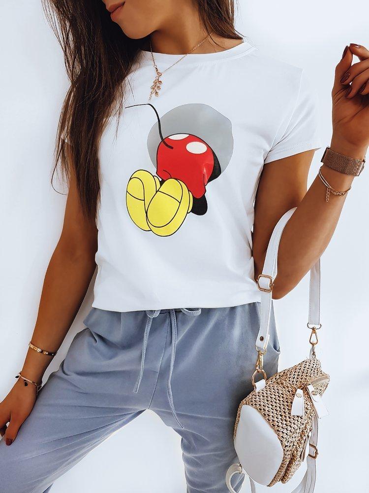T-shirt damski MICKY BOOM biały RY1428