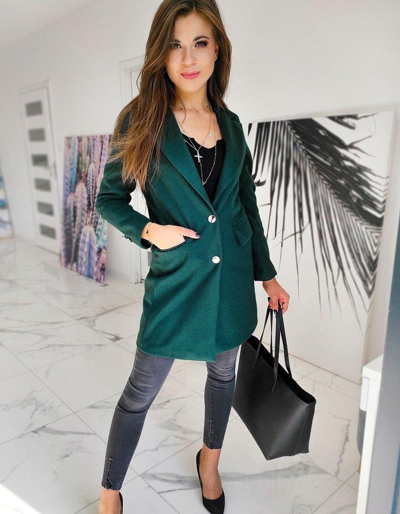 Płaszcz damski BELLA zielony NY0393