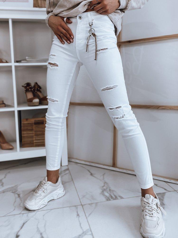 Spodnie damskie jeansowe VIVA białe Dstreet UY0846