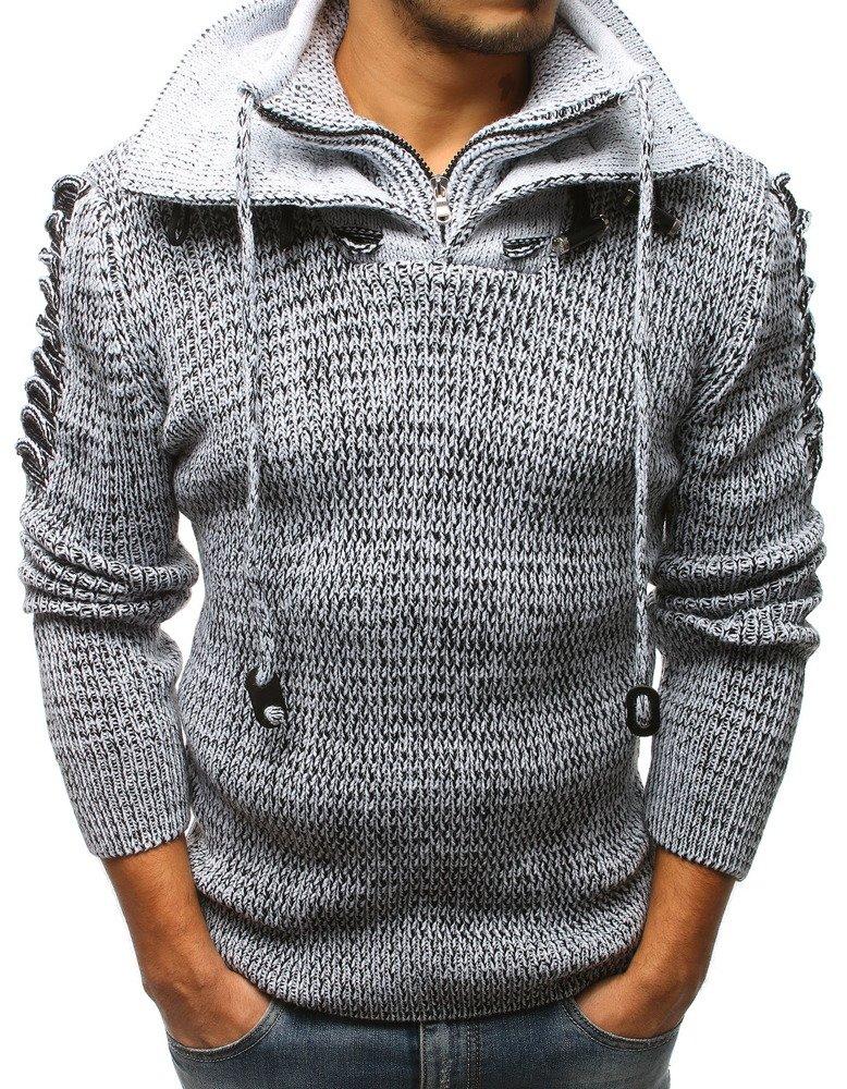 Pánsky sveter biely