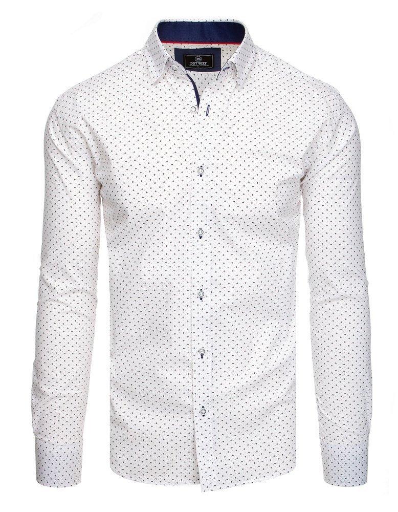 Elegantná košeľa so vzorom biela