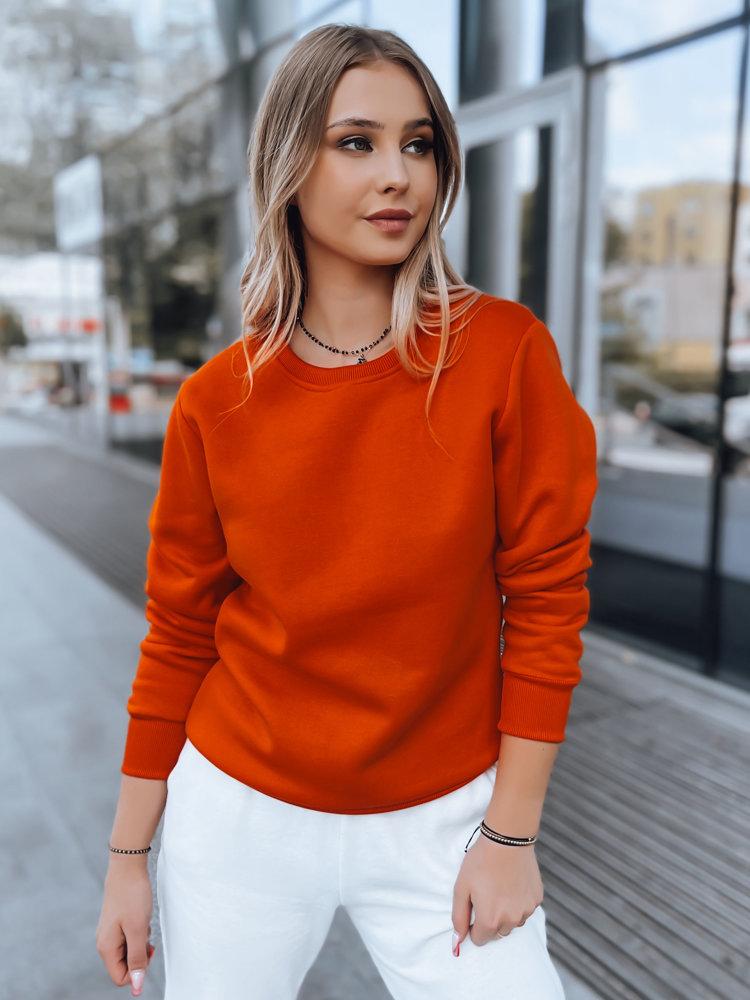 Oranžová dámska mikina FASHION II BY0317