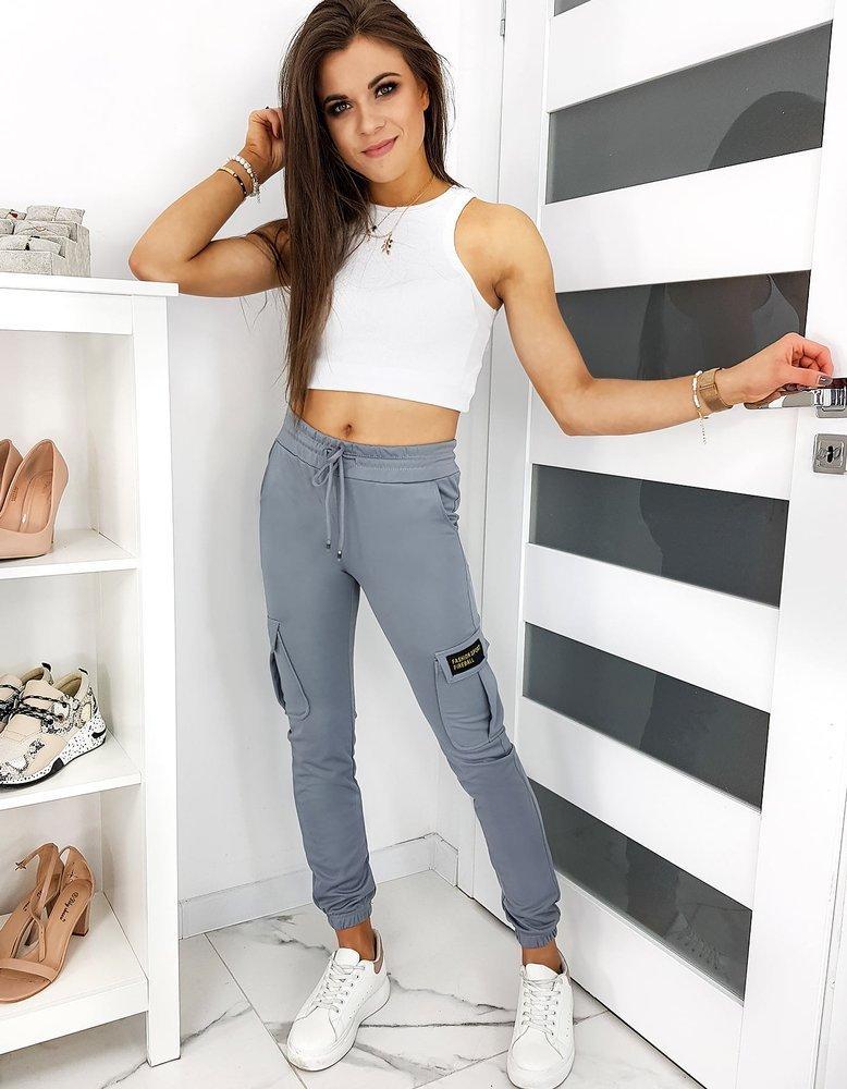 Spodnie damskie dresowe KIMBERLY szare UY0409