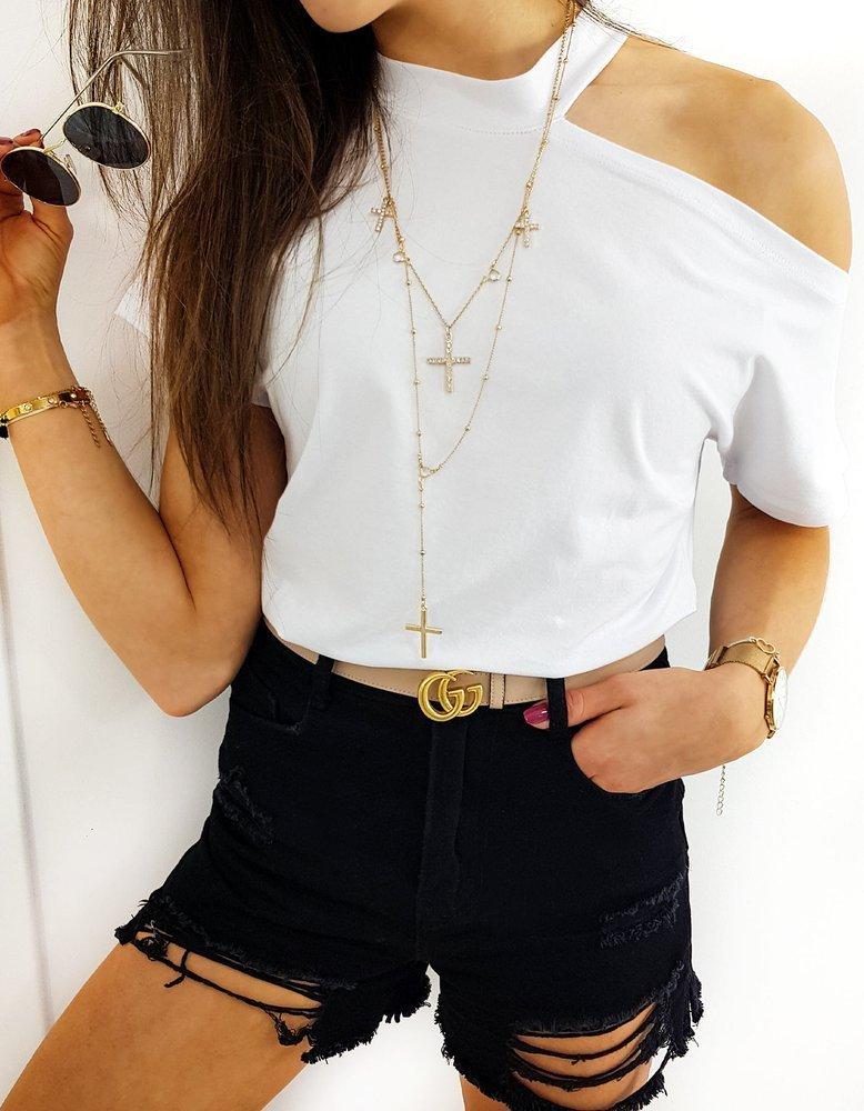 T-shirt damski COLINS biały Dstreet RY1415