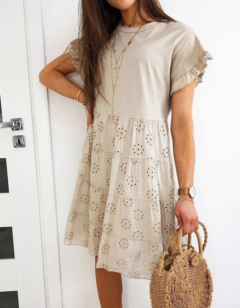 Béžové šaty