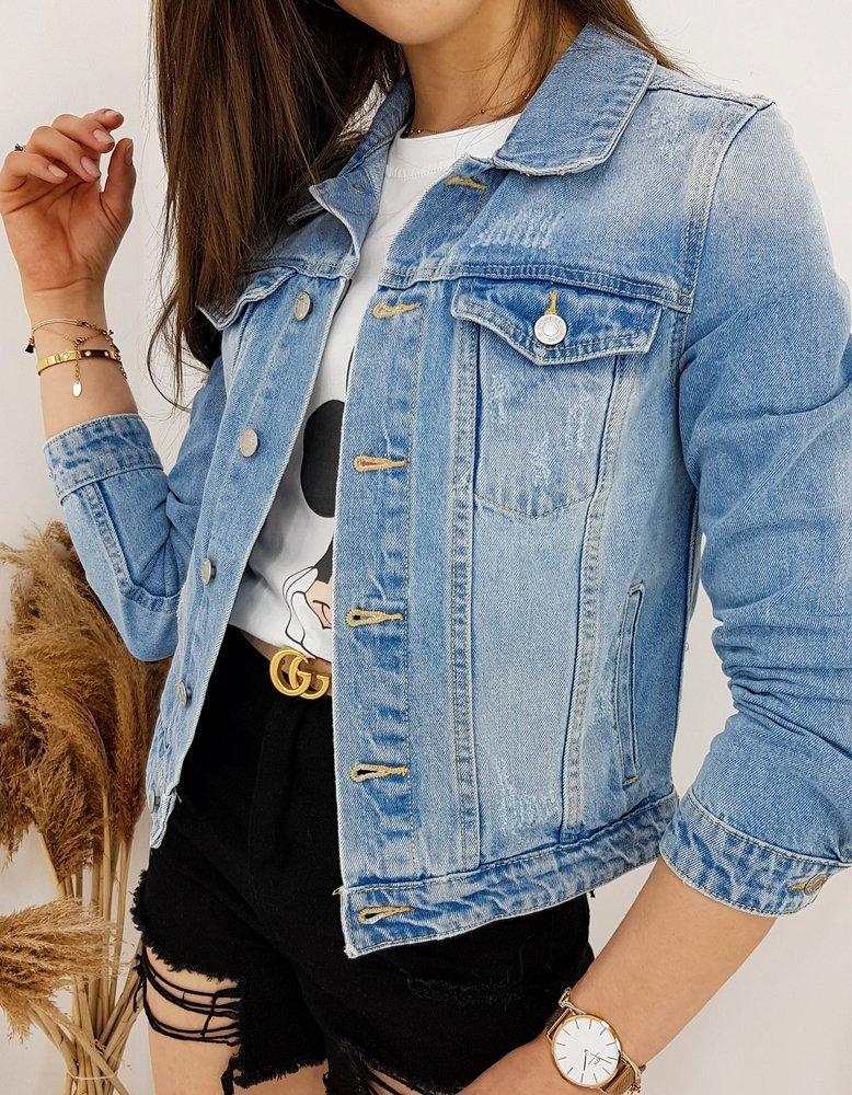 Kurtka damska jeansowa CELOS niebieska TY1256
