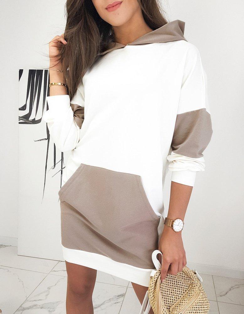 Biele tunikové šaty