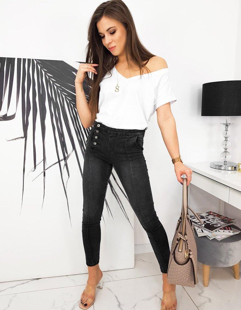 Spodnie damskie jeansowe EMMO czarne UY0678
