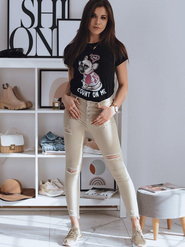 T-shirt damski DOGGIE czarny Dstreet RY1615