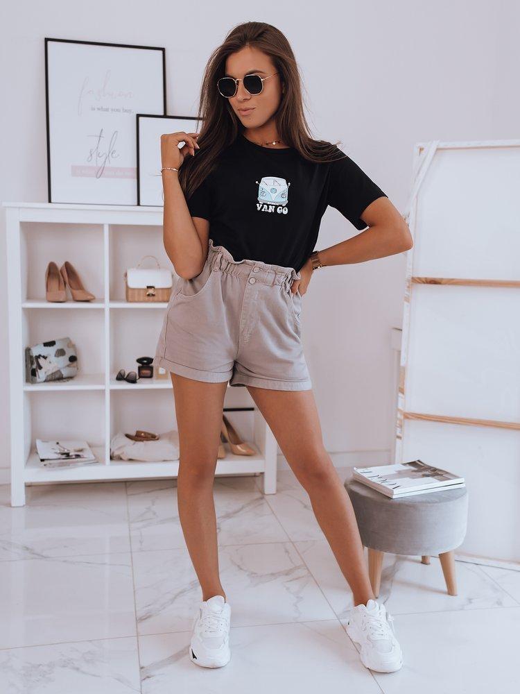 T-shirt damski VAN GO czarny Dstreet RY1747