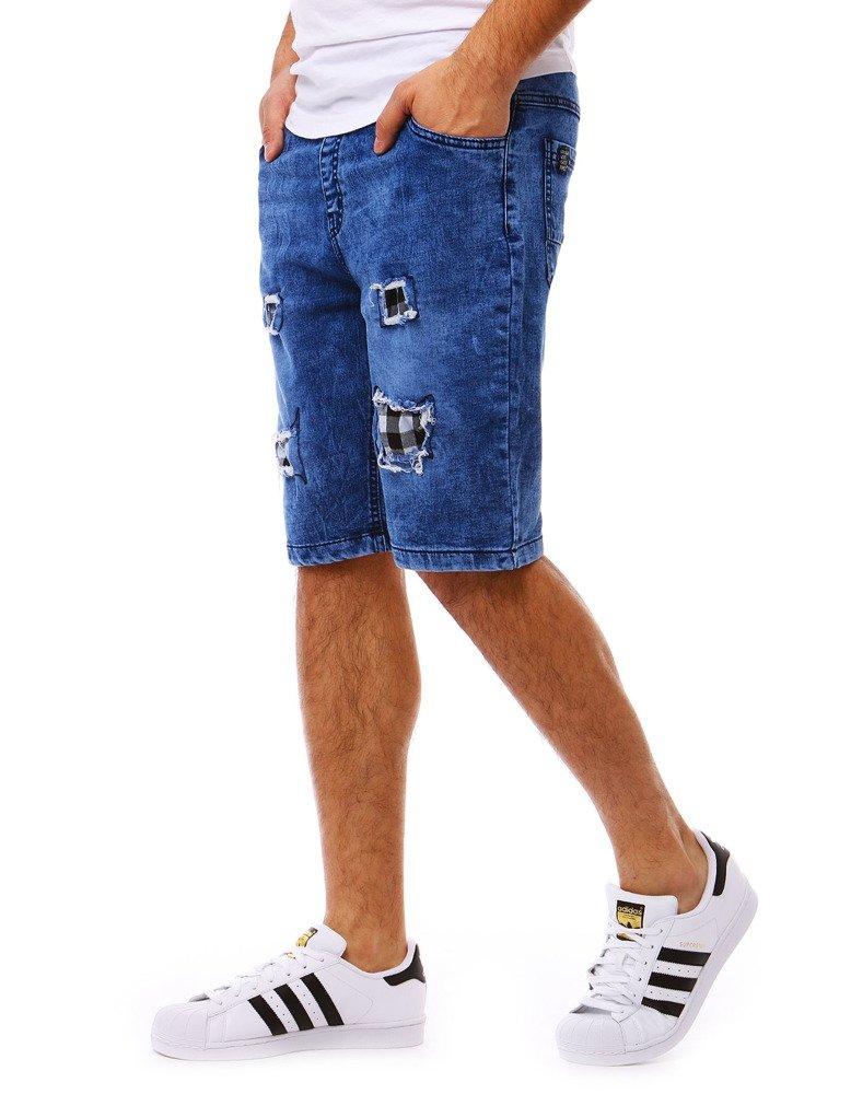 Panské džinsové tmavomodré kraťasy