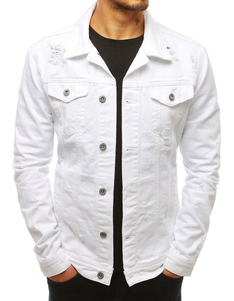 Biela pánska rifľová bunda (tx2679)