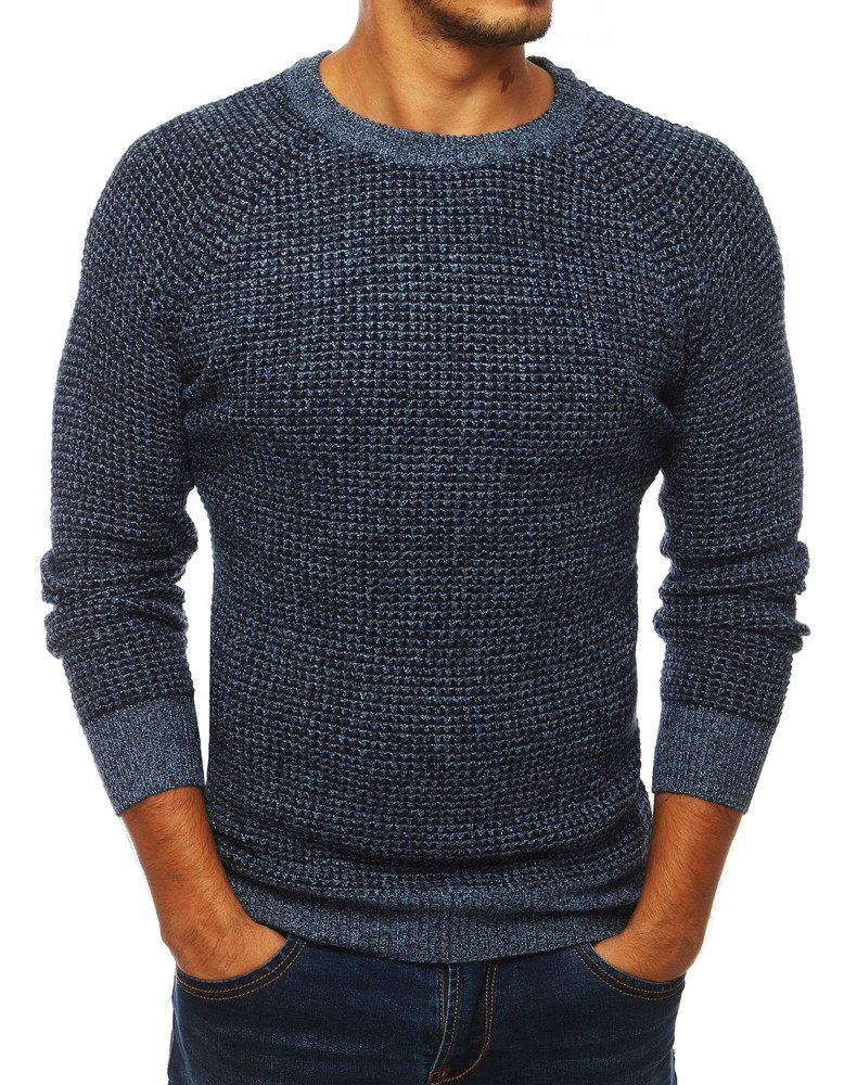 Jedinečný modrý pánsky sveter (wx1295)