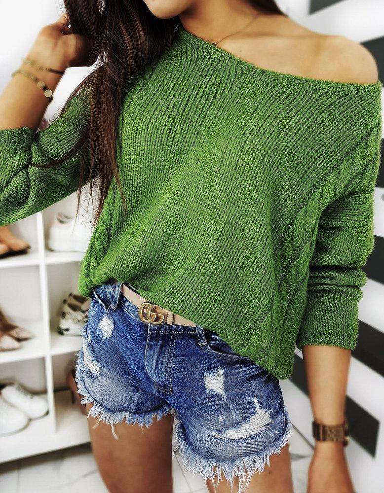 Sweter damski SIMONE zielony MY0706