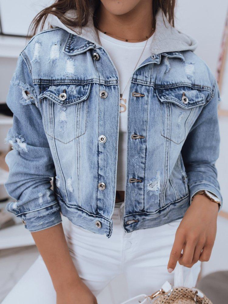 Kurtka damska jeansowa DOMINICA niebieska TY1664