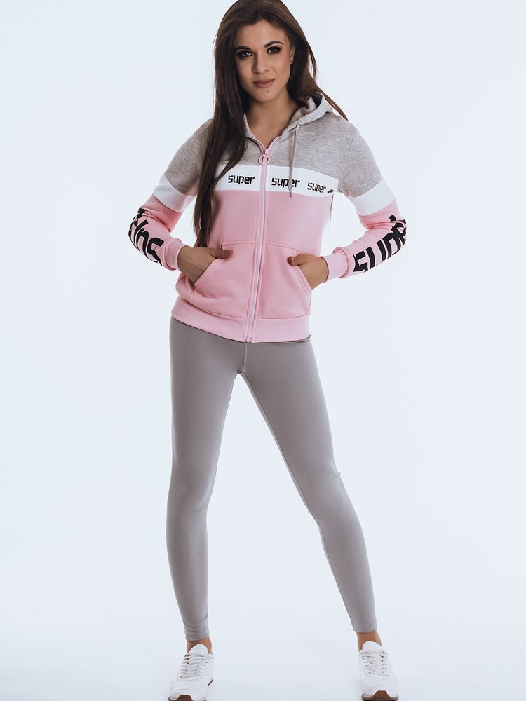 Bluza damska dresowa VITTA różowa BY0838