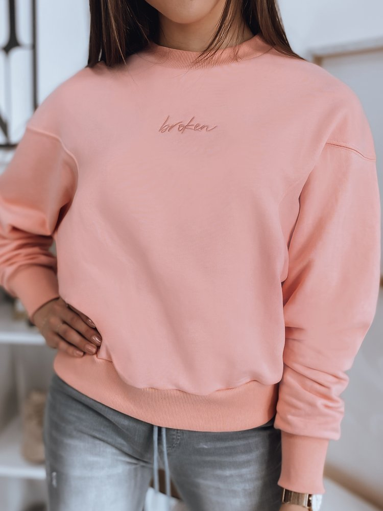 Bluza damska BROKEN różowa Dstreet BY0894