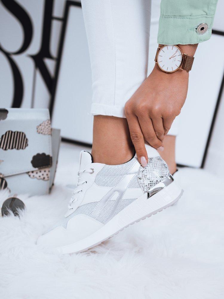 Sneakersy damskie KATHRYN srebrne Dstreet ZY0068
