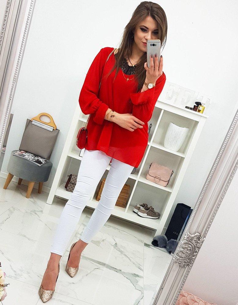 Czerwona bluzka damska DOLLY (ry0606)