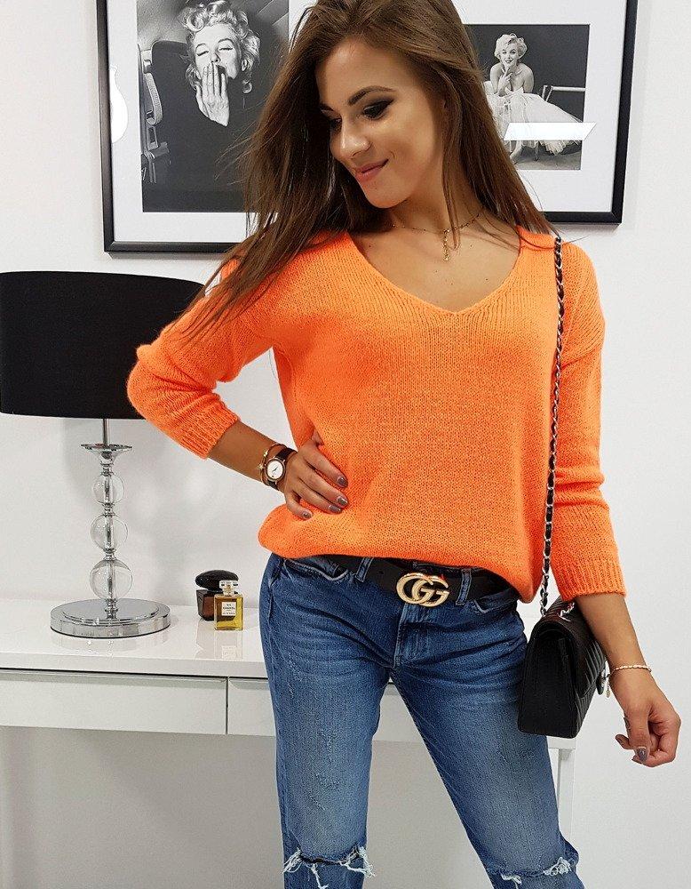 Dámsky sveter MILLAU neónový pomarančový