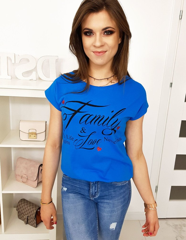 Modré dámske tričko (ry1011)
