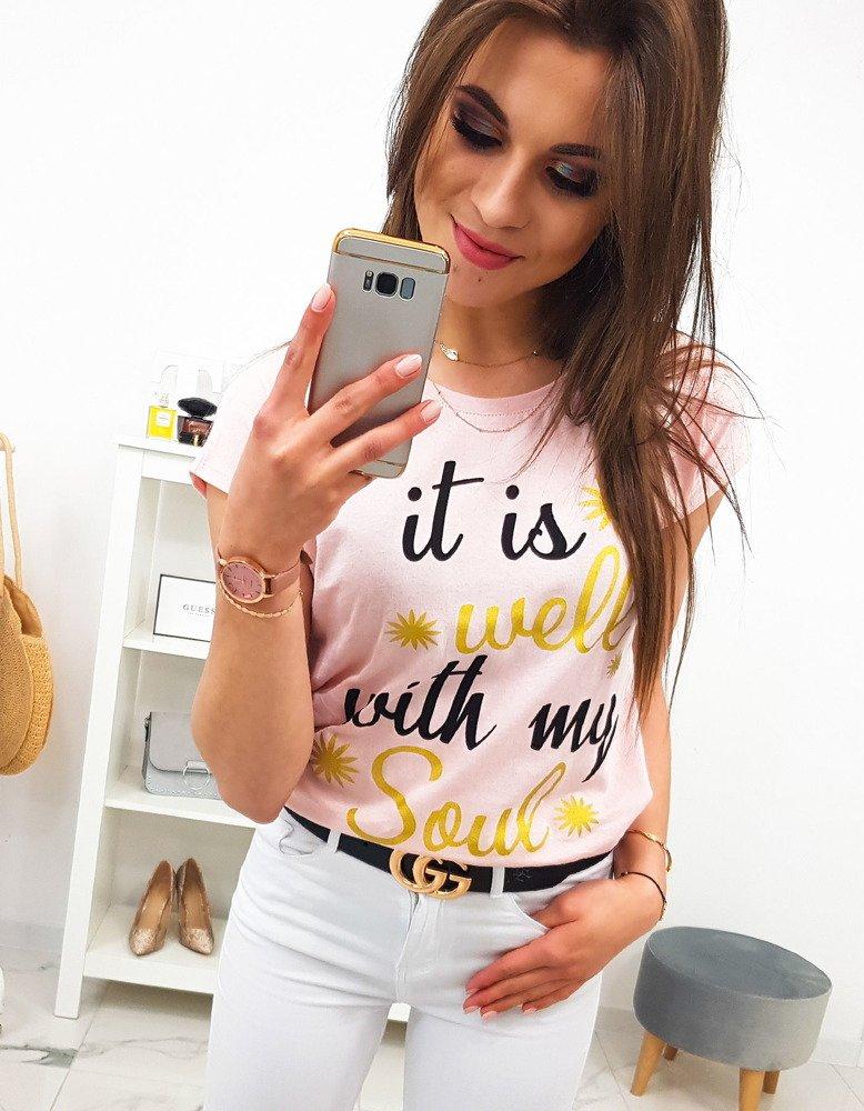 Dámske tričko svetlo ružové