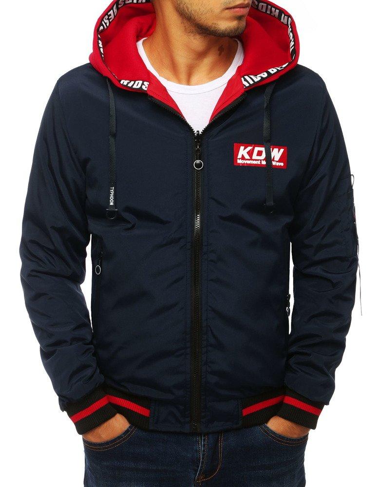 Obojstranná bunda námornícka modrá s kapucňou