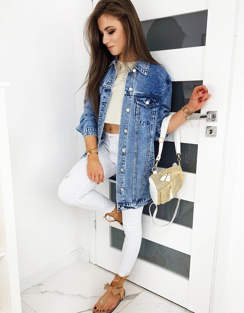 Kurtka damska jeansowa MOLENDA niebieska TY1231