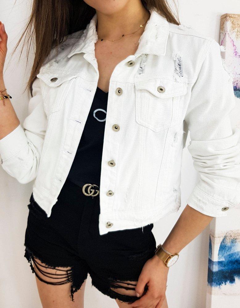 Kurtka damska jeansowa BUENOS biała TY1248