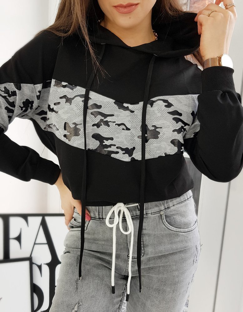 Bluza damska dresowa EVA II czarna BY0706