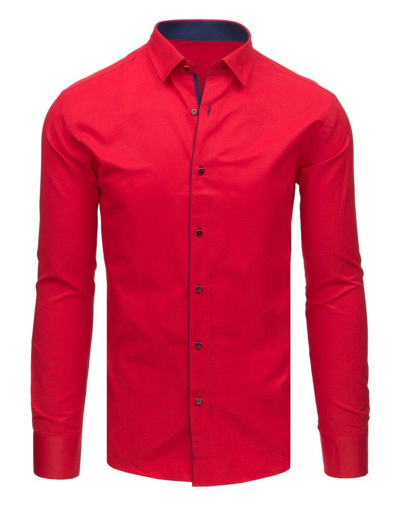 Elegantná košeľa červená