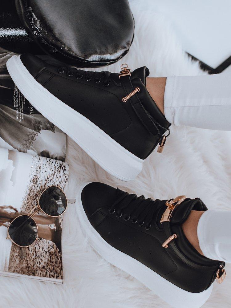 Sneakersy damskie NAUSA czarne Dstreet ZY0035