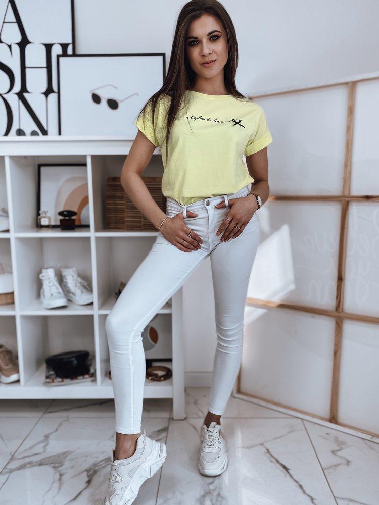 T-shirt damski LADY żółty Dstreet RY1642