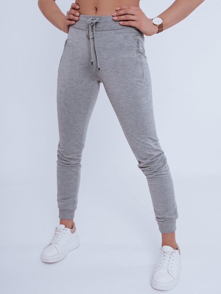 Spodnie damskie dresowe FENDI jasnoszare Dstreet UY0822