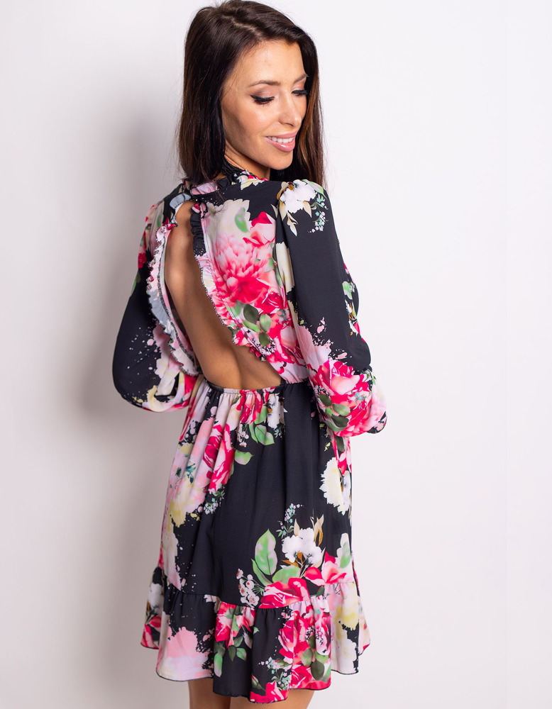 Sukienka DE FLOR czarna EY0751