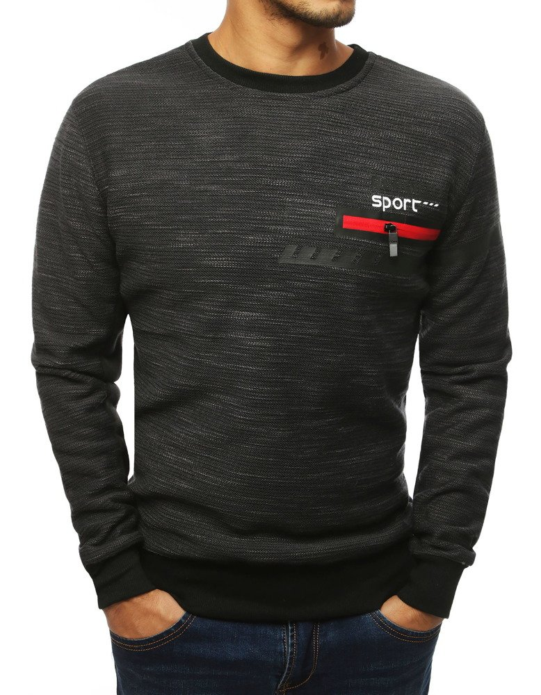 Bluza męska bez kaptura antracytowa BX4100