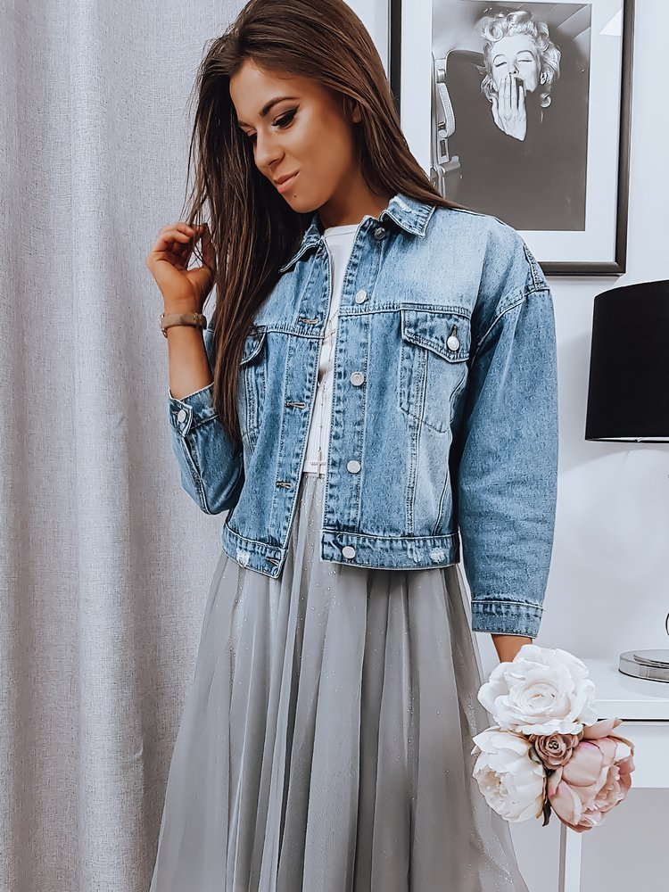 Kurtka damska jeansowa CLASICO niebieska TY1104