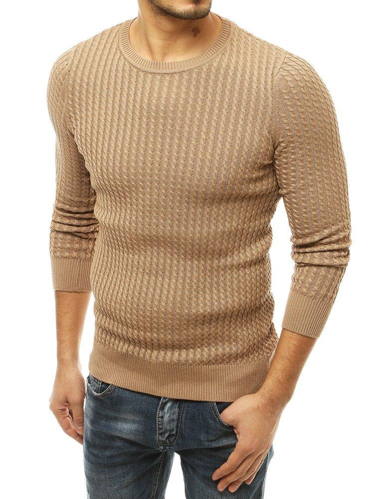 Pánsky béžový sveter.