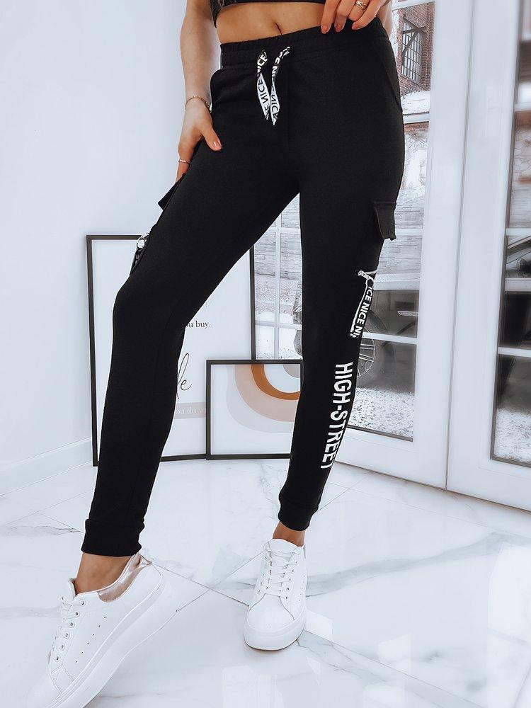 Spodnie damskie GALLIA czarne Dstreet UY0754
