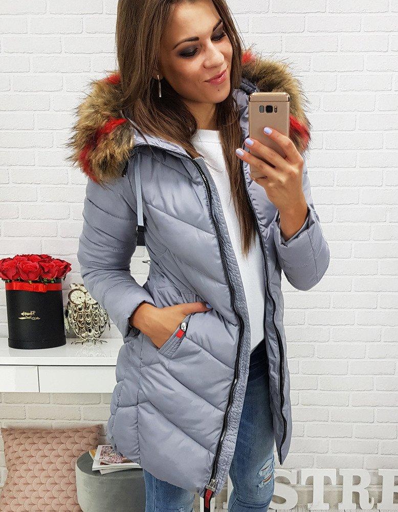 Šedá zimná bunda pre dámu (ty0284)