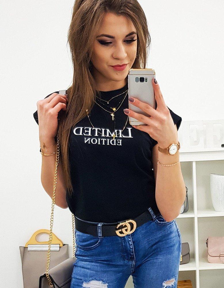 T-shirt damski LIMITED EDITION PREMIUM czarny (ry0722)