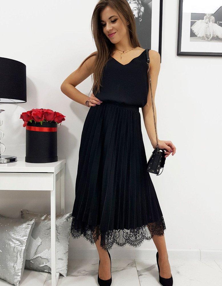 Sukňa plisovaná čierna