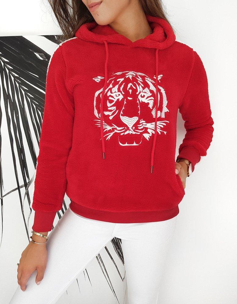 Bluza damska TIGER czerwona BY0260