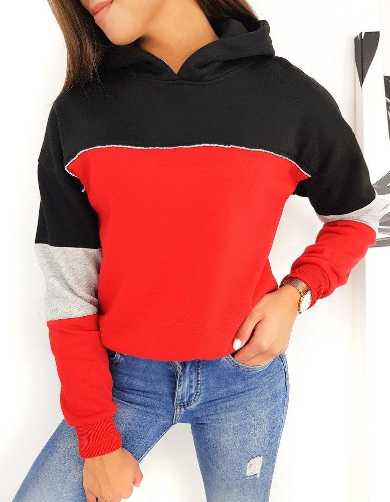 Bluza damska MESS czerwona BY0476