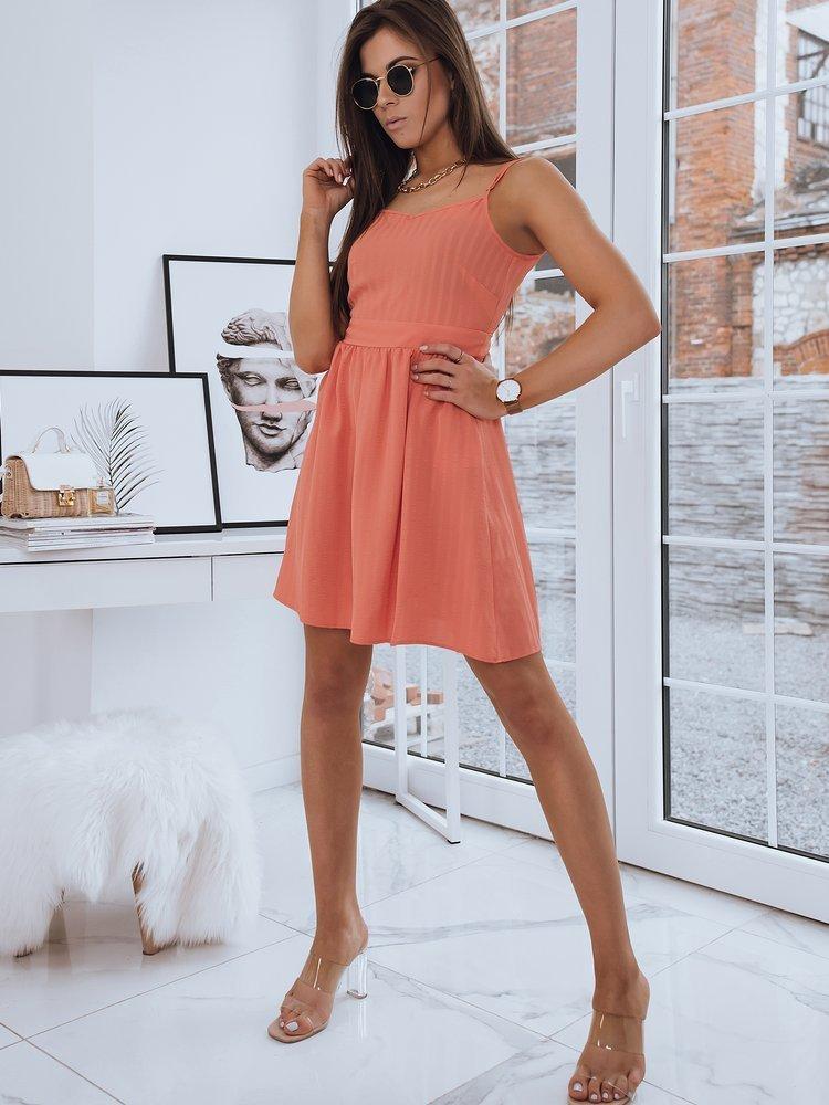 Pekné dámske šaty LOLA oranžovej farby.