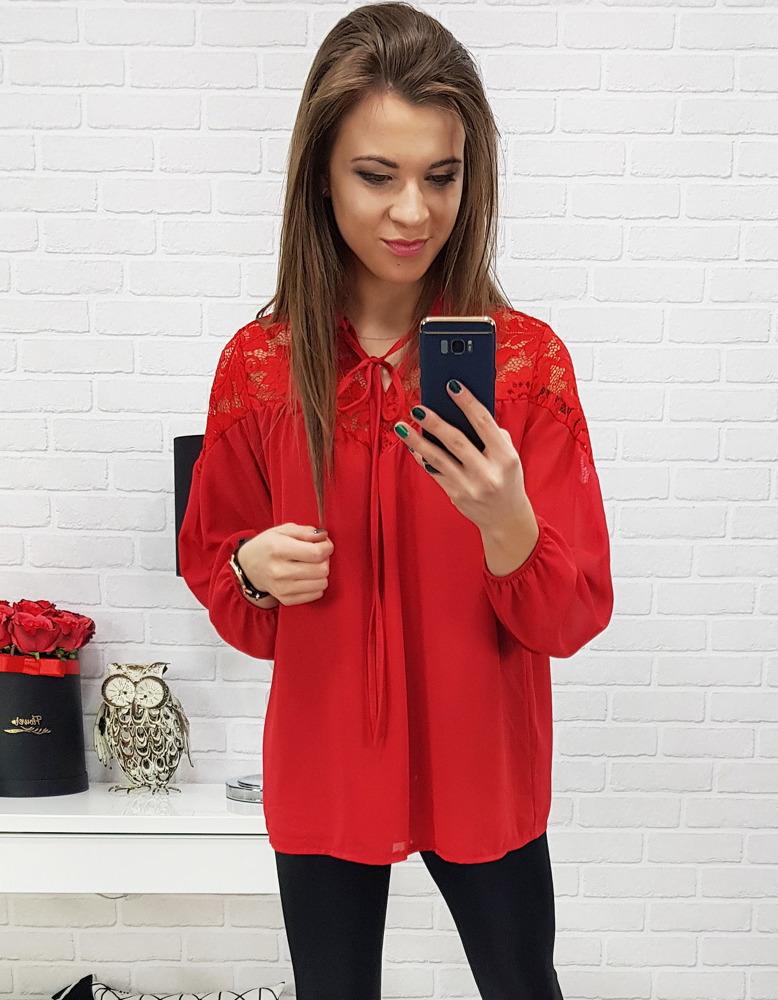 Bluzka damska CALYPSSO czerwona RY0482