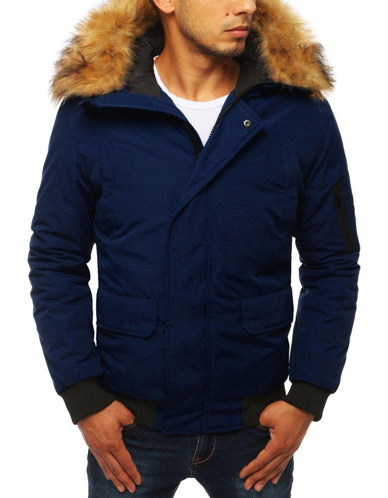 Pánska zimná bunda tmavomodrá