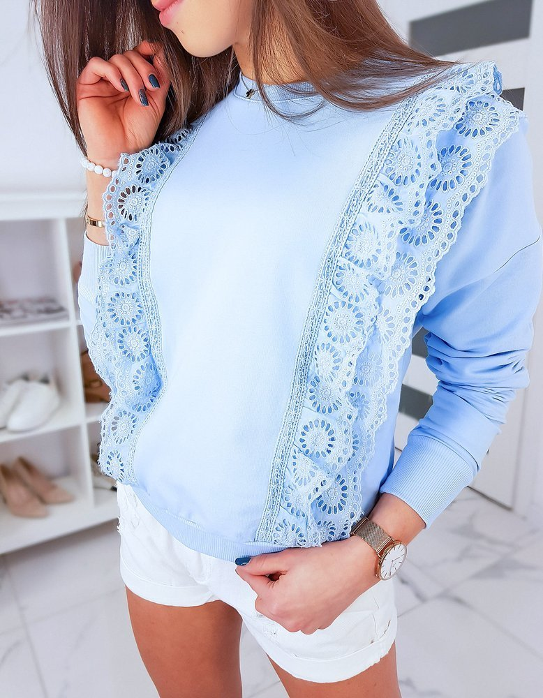 Bluza damska CORMIN błękitna BY0342